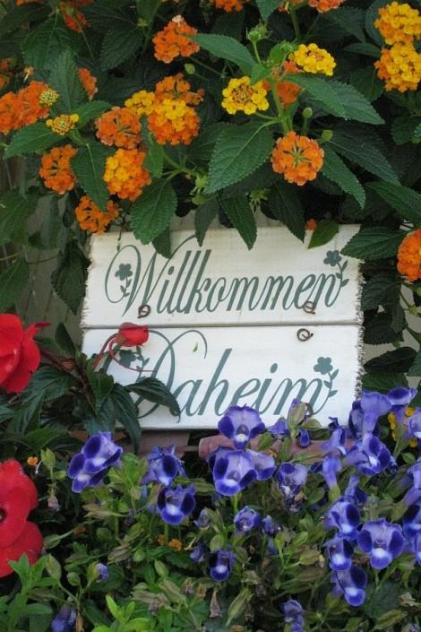 Ferienwohnungen Döllerer Reit im Winkl, Schild Willkommen