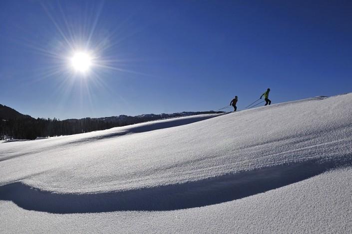 Langlaufen, Reit im Winkl, Chiemgau, Bayern